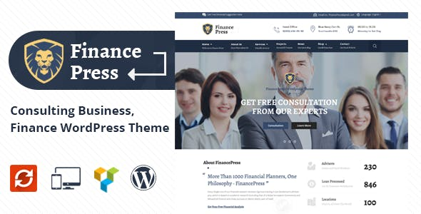 Finance Press - Consulting Business, Finance WordPress Theme