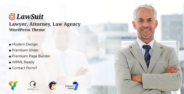 LawSuit - Lawyer, Attorney, Law Agency WordPress Theme