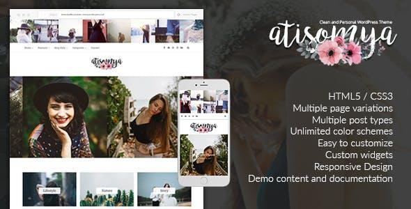 Atisomya - Clean & Personal WordPress Blog Theme