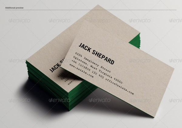 Paperboard Business Card Mockup