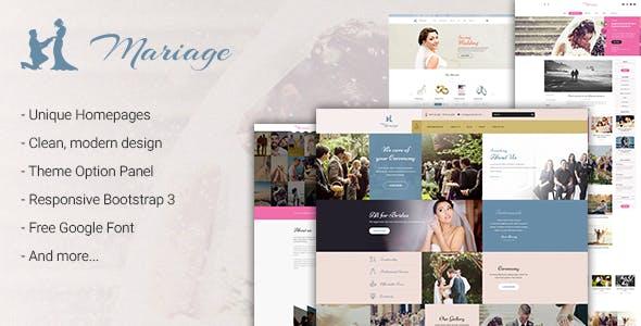 Wedding & Marriage - Wedding WordPress Theme