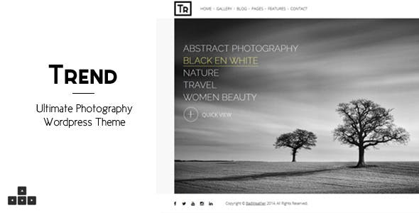 Trend - Photography WordPress Theme