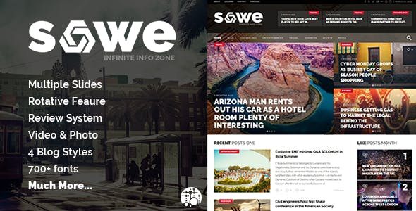 Sowe - Future Magazine WordPress Theme
