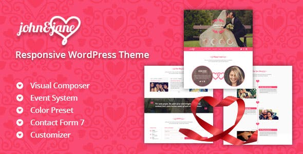 J&J - Responsive WordPress Wedding Theme