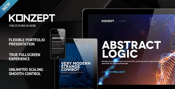 Konzept - Fullscreen Portfolio WordPress Theme