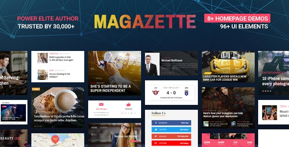 Magazette Magazine - News Blog & Magazine WordPress Theme