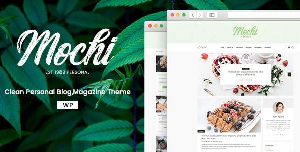 Mochi - A Clean Personal WordPress Blog Theme
