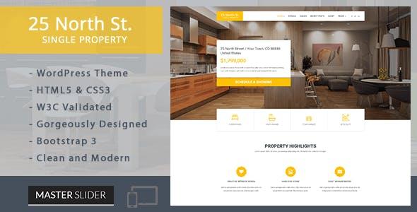 25 North - Single Property Real Estate WordPress Theme