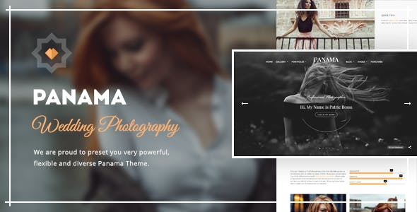 Photography WordPress Theme: Portfolio & Transitions: Panama