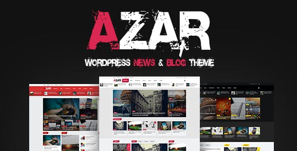 Azar - WordPress News & Blog Theme