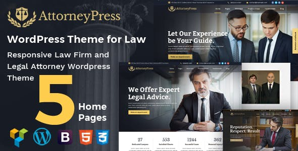 Attorney Press - Lawyer and Law Office WordPress Theme