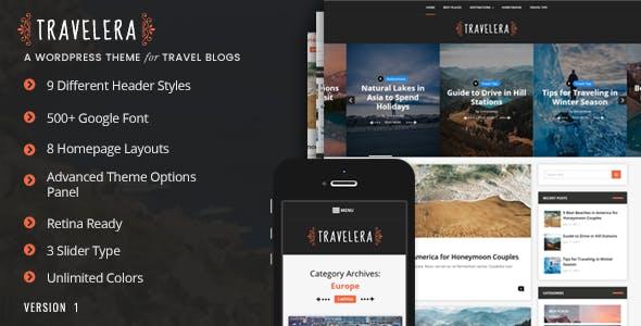Travelera - Travel Blog Theme