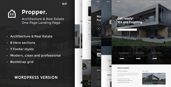 Propper - Architecture WordPress Theme