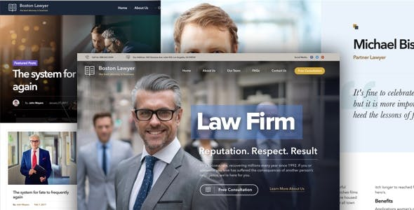 Lawyer - Law firm and Legal Attorney WordPress Theme