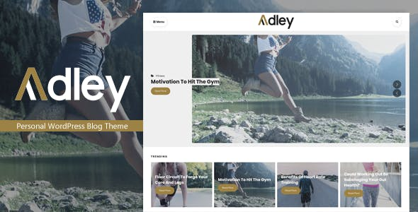 Adley - Personal WordPress Blog Theme