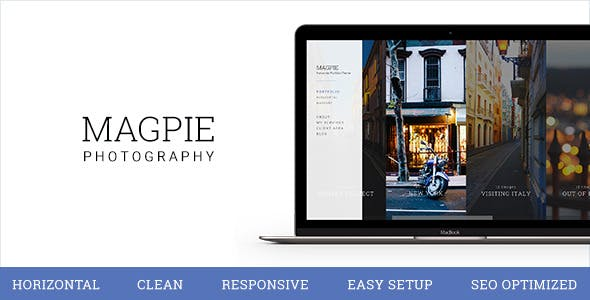 Magpie - Horizontal and Clean Photography Theme