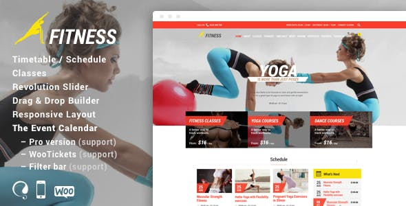 Gym & Fit -Theme for Fitness Gym and Fitness Centers