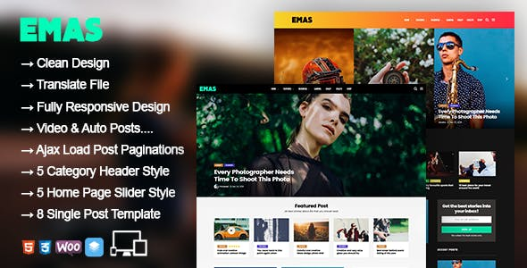 Emas - WordPress Blog Magazine Theme