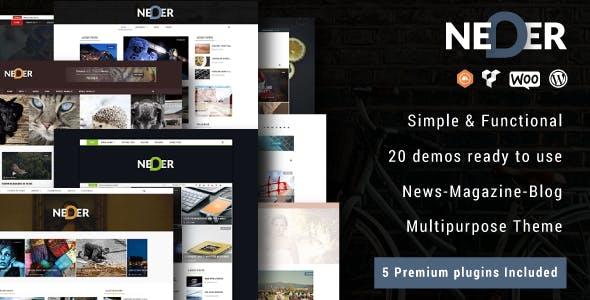 Neder - WordPress News Magazine and Blog Theme
