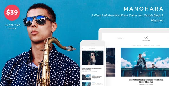 Manohara - Modern Lifestyle Blog & Magazine WordPress Theme