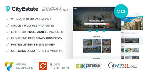 CityEstate - Complete Real Estate WordPress Theme