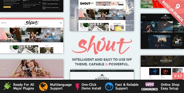 Shout - Blogging WordPress Theme