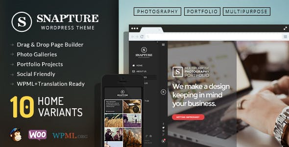 Snapture Photography & Corporate WordPress Theme