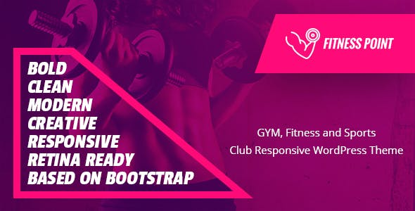 Fitness Point - Gym, Fitness and Sports Clubs WooCommerce WordPress Theme