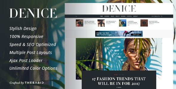 Denice - A Responsive WordPress Blog Theme