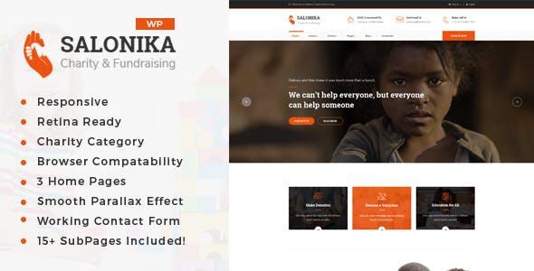 Salonika - Charity/Fundraising WordPress Theme