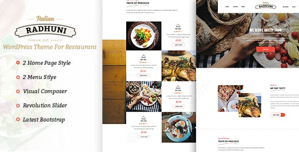 Italian Radhuni - Food & Resturant WordPress Theme