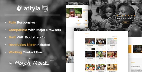 Attyia - Creative NGO and Charity WordPress Theme