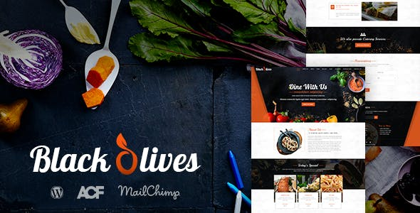 Blackolive - Restaurant One Page WordPress Theme