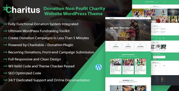 Charitus - Charity WordPress Theme with Donation System
