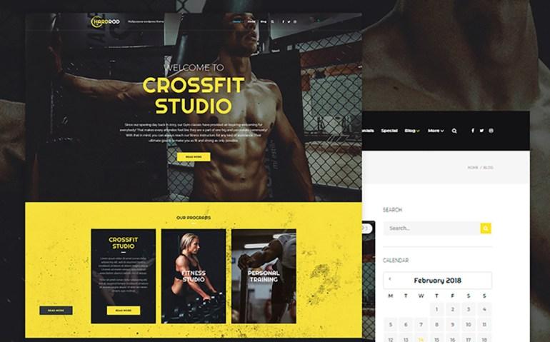 Hardrod - Dynamite Fitness & Bodybuilding WordPress Theme
