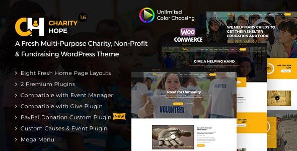 Charity Hope - Non-Profit & Fundraising WordPress Charity Theme