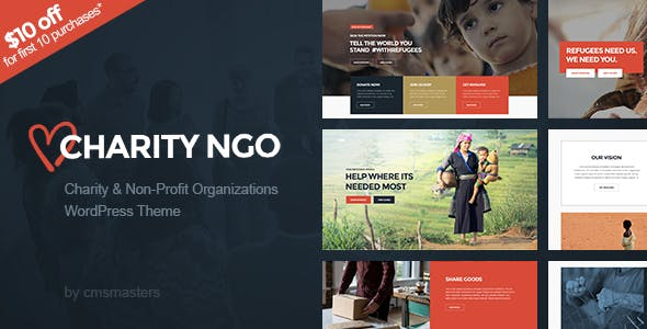 Charity NGO - Donation & Nonprofit NGO Charity WordPress Theme