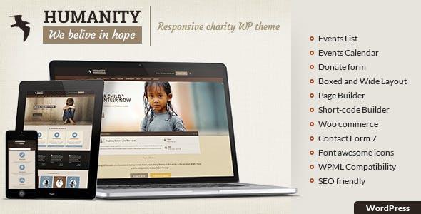 Humanity NGO | Charity & NGO WordPress Theme