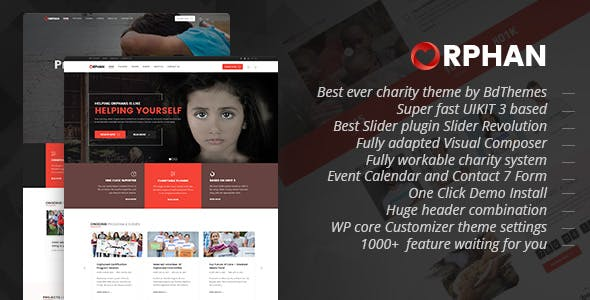 Orphan - Charity WordPress Theme