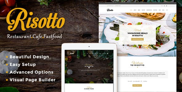 Risotto - WordPress Restaurant & Cafe Theme
