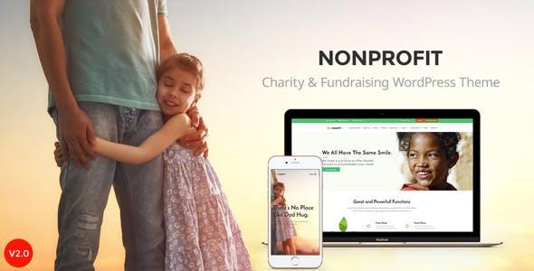 Nonprofit - NGO, Nonprofit Charity organization WordPress Theme