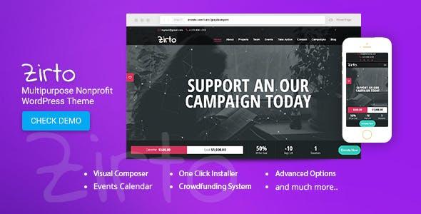 Zirto - Multipurpose Nonprofit Theme