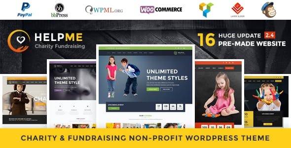 HelpMe - Nonprofit Charity WordPress Theme