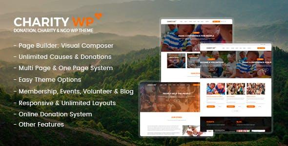 Charity WP - Nonprofit and Fundraising WordPress Theme