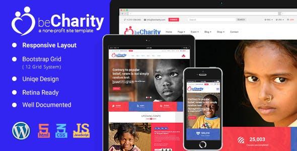 beCharity - WordPress Charity Theme