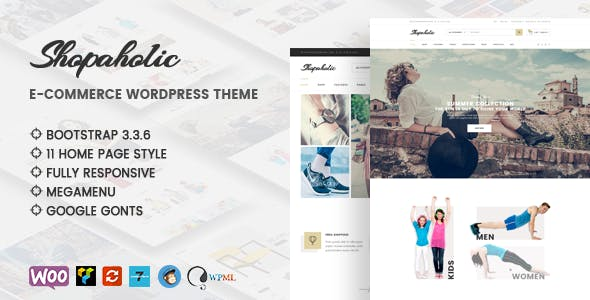 Shopaholic - Responsive Multipurpose eCommerce WordPress Theme