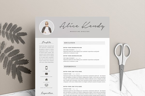 Resume Template 4 pages | Charming