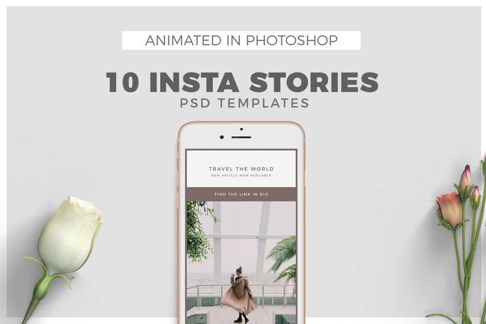 Minimal Animated Instagram Stories Templates