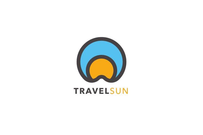 Travel Sun Logo Template