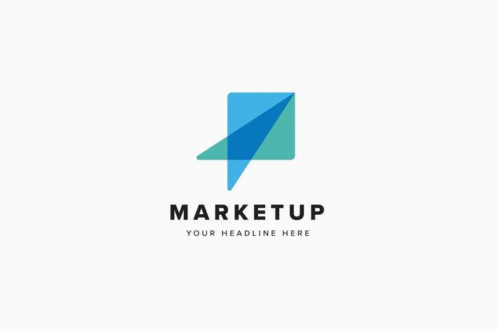Market Up Logo Template